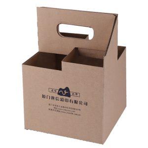 4 pack bottle box beer wine carriers-1