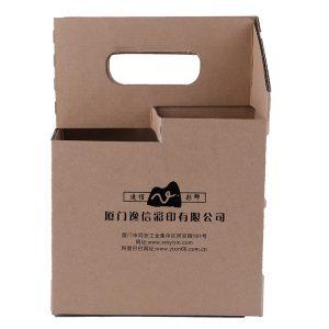 4 pack bottle box beer wine carriers-2