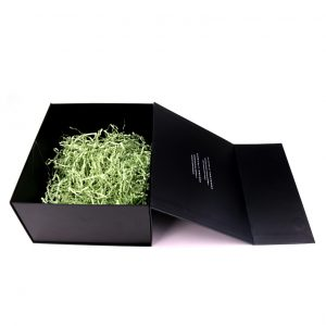 Black gift box with filling paper-2