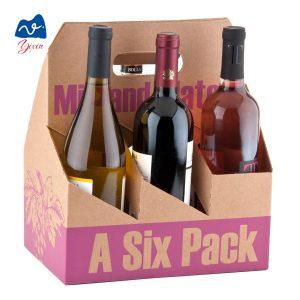 Cardboard 6 bottle beer wine box-1