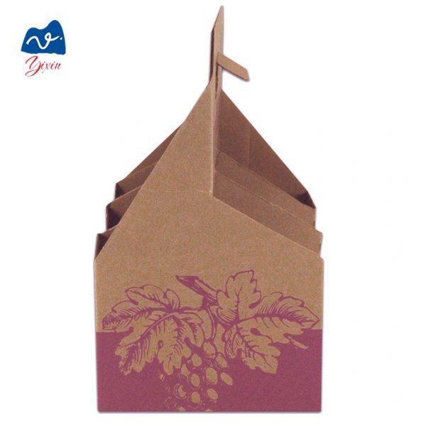 Cardboard 6 bottle beer wine box-4