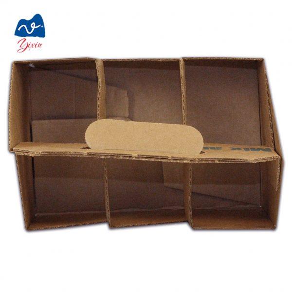 Cardboard 6 bottle beer wine box-5