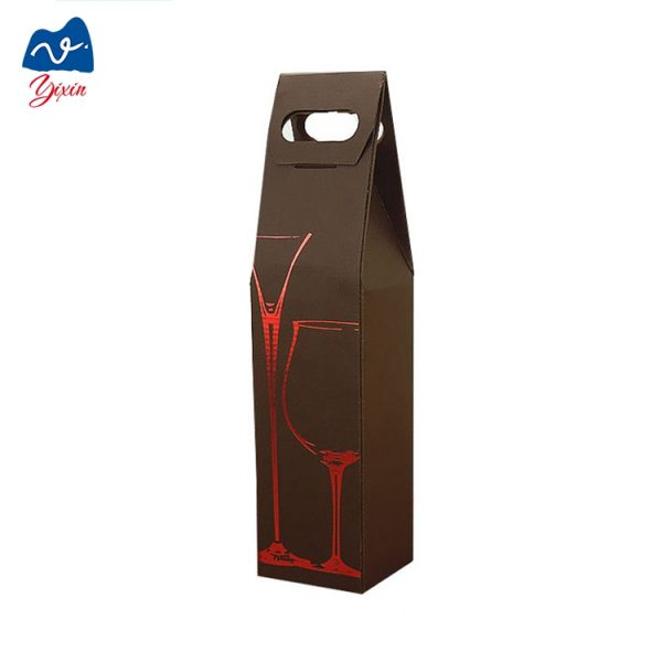 Cardboard champagne bottle box-3