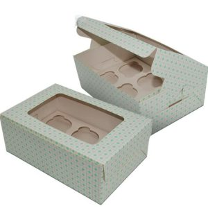 Cupcake Box With Clear Window-1
