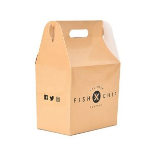 Food packaging box with handle-1
