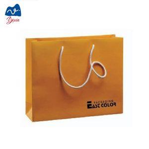 Golden paper shopping bag-1