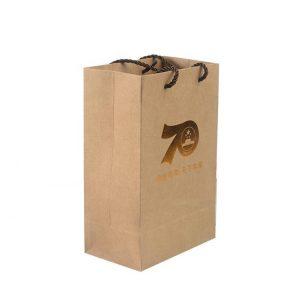 Kraft paper shopping bag-1