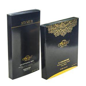 Matte black facial mask paper box-2