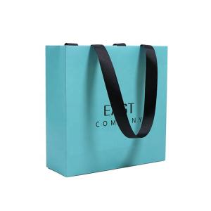 blue kraft paper bag-1