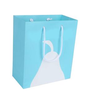 blue kraft paper bag-2