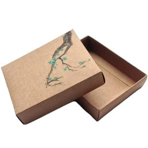 brown recycle cardboard gift box-1
