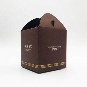 cardboard carrying box with handle-1