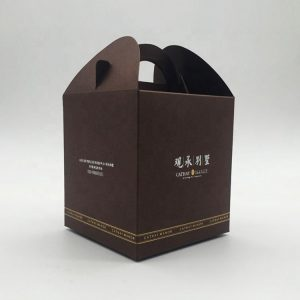 cardboard carrying box with handle-2