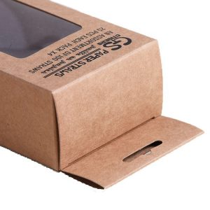 kraft box with hanging tab-2