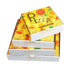 kraft paper pizza box-1