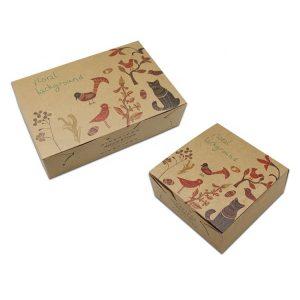recycle brown kraft paper food box-1