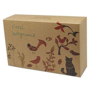 recycle brown kraft paper food box-2